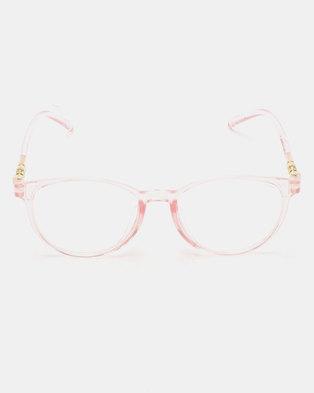 dc56a6812dc You   I Clear Lense Sunglasses Pink