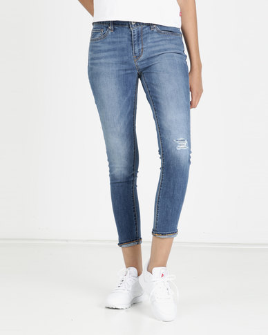 Levi's® 711 Skinny Ankle Jeans Keeping Tabs Blue
