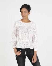 Levi's® Rosie Top Little Buds Cloud Dancer Print Multi