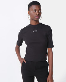 Levi's ® Ribbed Slim Tee Black