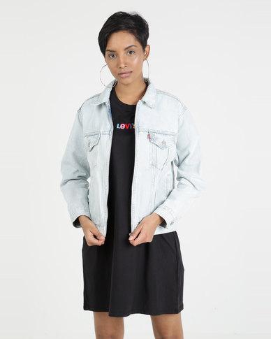 Levi's® Ex-Boyfriend Zip Trucker Jacket Blue