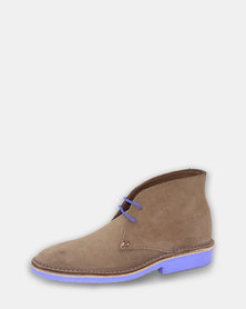 Vellies Leather Shoes Violet Sole