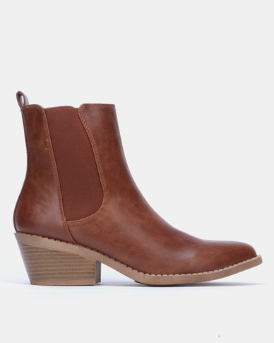 Jada Chelsea Ankle Boot Mid Brown