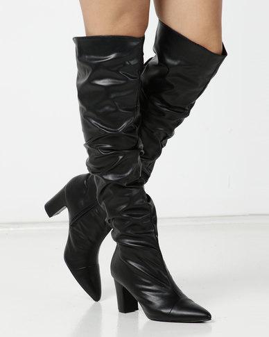 Jada Shuffle Detail Long Boot Black
