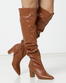 Jada Shuffle Detail Long Boot Tan