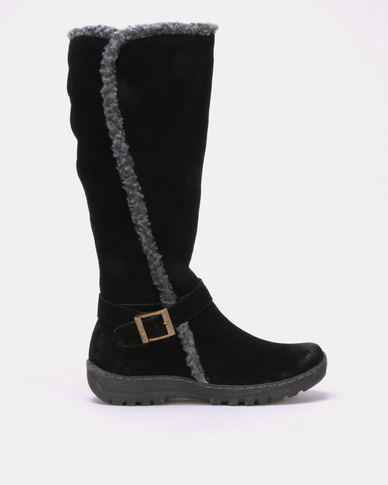 Grasshoppers Corina Leather Long Boots Black