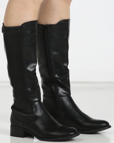 Utopia Gusset Rider Boots Black