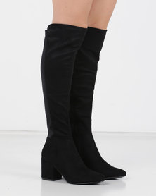 Utopia Stretch Long Boots Black