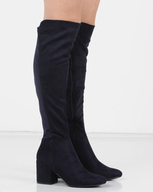 Utopia Stretch Long Boots Blue