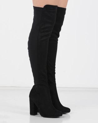 e53c2650479 Utopia Long Mocc Suede Boots Black