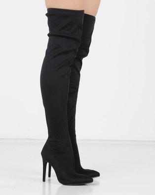 236e640c6d7 Utopia OTK Heeled Boots Black