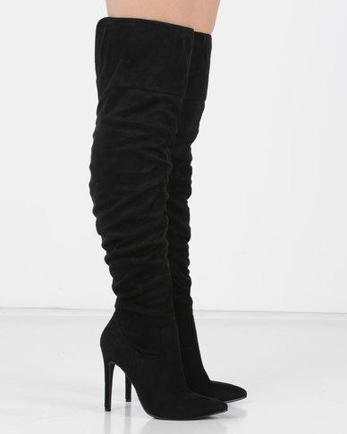 Utopia Long Shuffle Boots Black