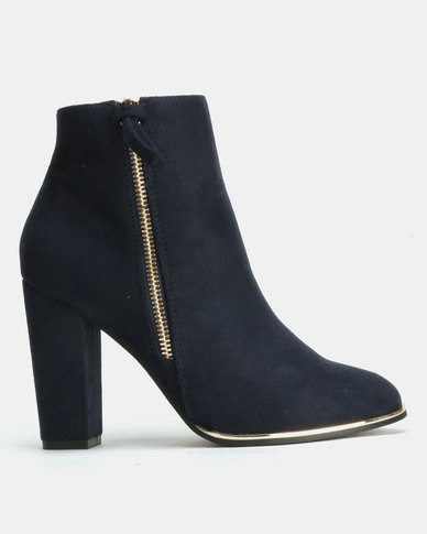 Utopia Zip Ankle Boot Blue