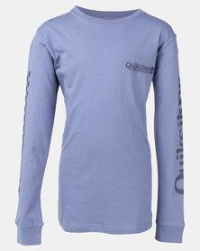 Quiksilver Boys Check It Long Sleeve T-Shirt Blue