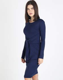 Utopia Knit Dress Navy