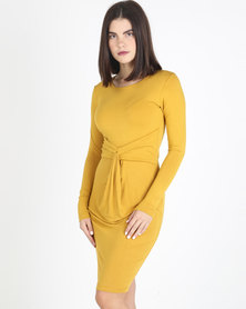 Utopia Knit Dress Mustard
