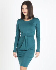 Utopia Knit Dress Forest Green