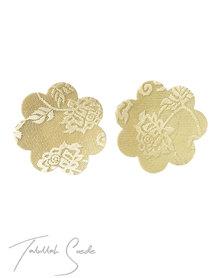 Talullah Suede Nipple Pasties (3x Pairs) Flower Nude