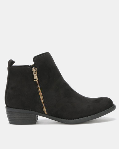 Utopia Double Zip Boots Black