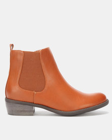 Utopia Chelsea Boots Brown