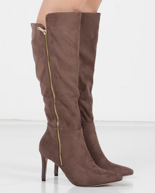 aab541738 Utopia Pointy Knee High Boots Neutrals