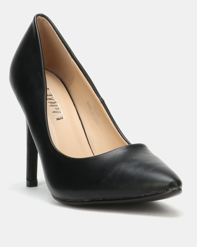 Utopia PU Pointy Court Black