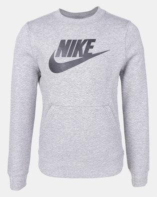 5b003595de83 Nike B NSW Crew Club FLC HBR Longsleeve Grey