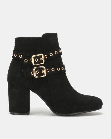 Utopia Double Buckle Boots Black