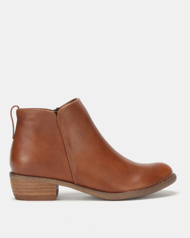 Utopia Ankle Boots Tan
