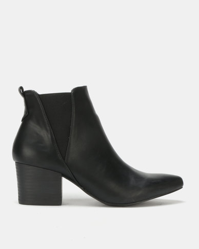 Utopia Pointy Gusset Boots Black