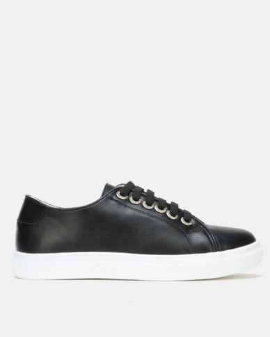 Utopia Lace Up Sneaker Black
