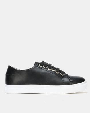 Utopia Lace Up Sneaker Black