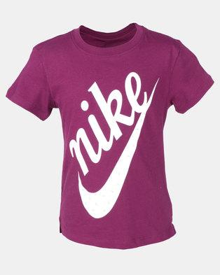 1e29eaa52d0 Nike G NSW DRPTL Icon Futura Tee Purple