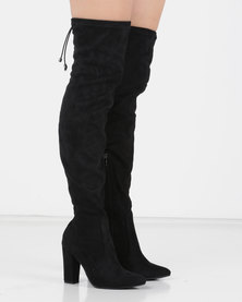Utopia OTK Pointed Boot Black