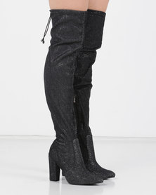 Utopia OTK Pointed Boot Silver