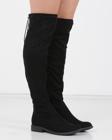 Utopia OTK Flat Boot Black