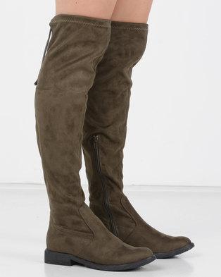 177148eef55 Utopia OTK Flat Boot Khaki