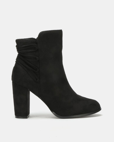 Utopia Back Lace Up Boot Black