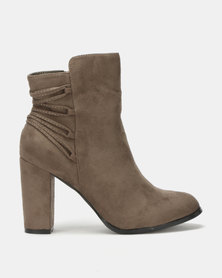 Utopia Back Lace Up Boot Khaki