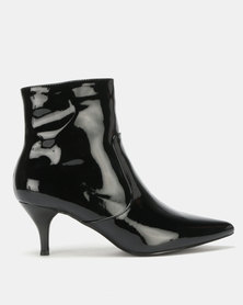 Utopia Pointy Kitten Boot Black