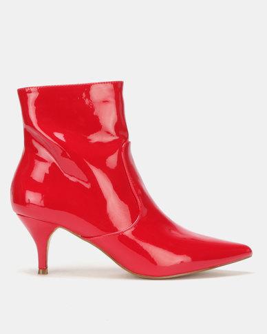 Utopia Pointy Kitten Boot Red
