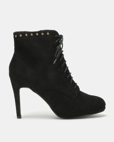 Utopia Platform Lace Up Boot Black