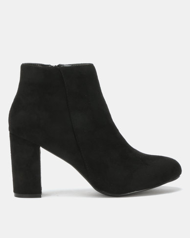 Utopia Block Heel Boot Black