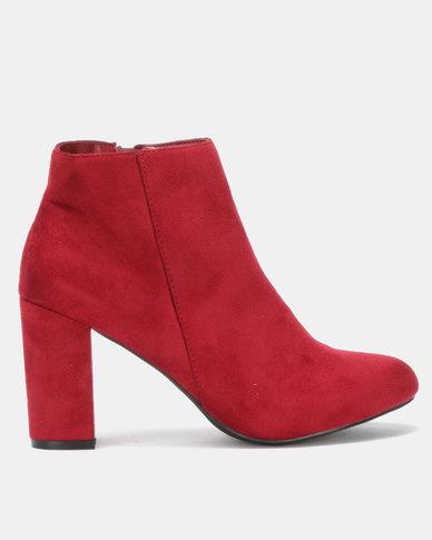 Utopia Block Heel Boot Red