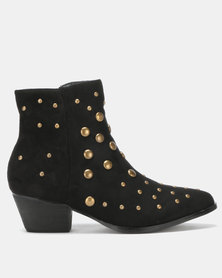 Utopia Studded Western Black
