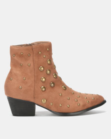 Utopia Studded Western Camel