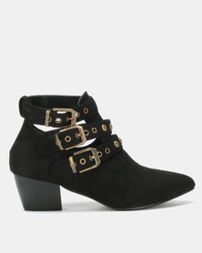 Utopia Studded Strap Boot Black