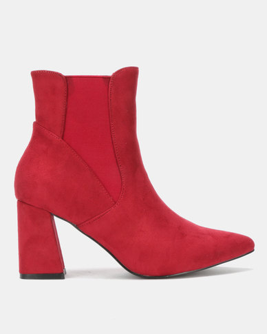 Utopia Gusset Flare Boot Red
