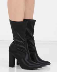 Utopia Satin Stretch Boot Black