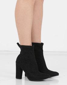 Utopia Shimmer Stretch Boot Black